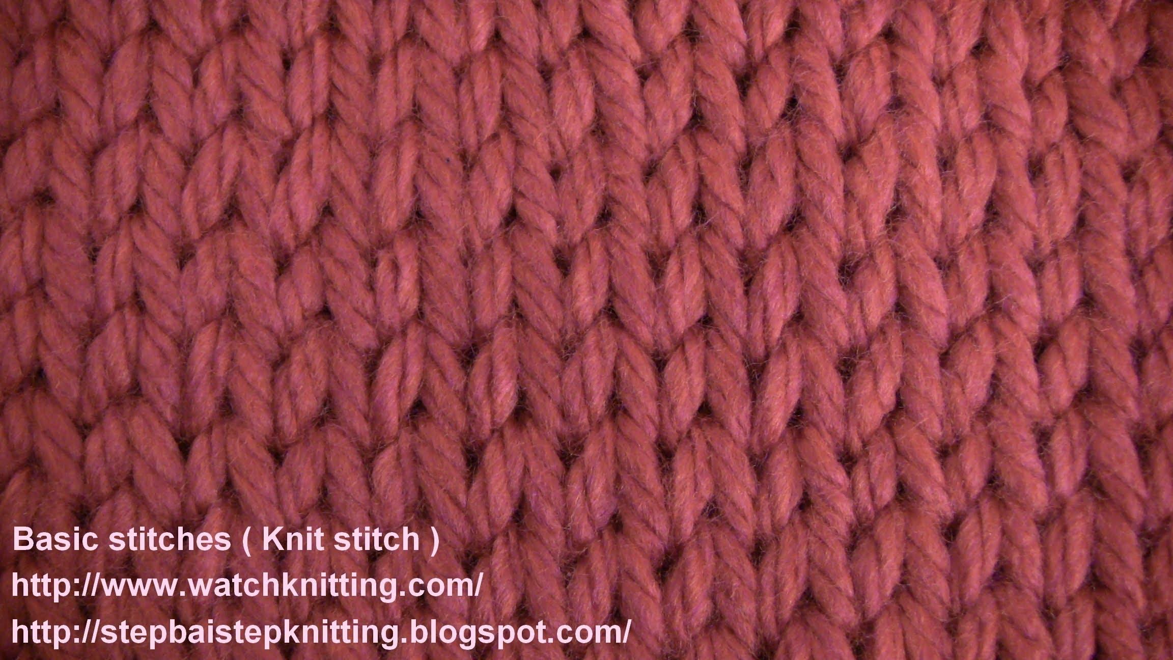knitting stitches stokinett stitch- (knit stitch) - watch knitting - lesson 2 - learn how zswzvjk