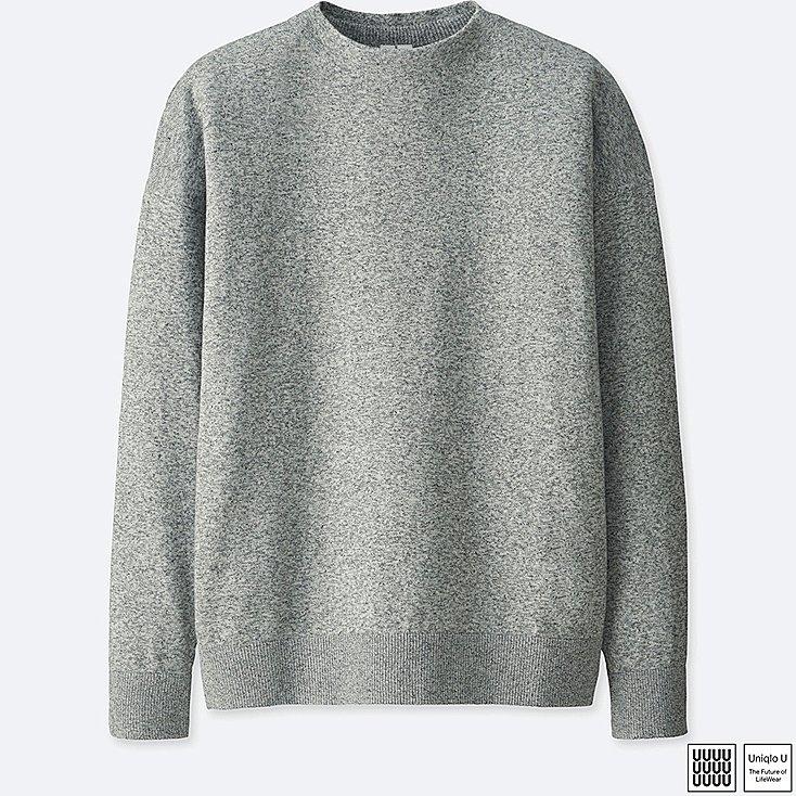 knitwear men uniqlo u 100% cotton mock neck long sleeve sweater mvevdbp