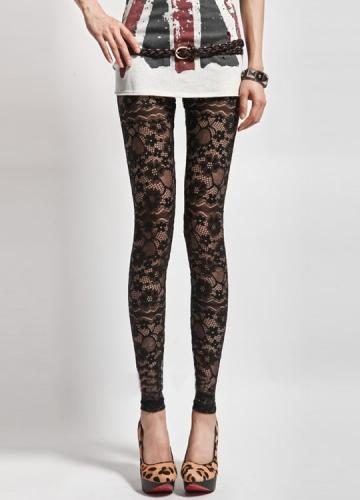lace leggings for women sexy black flowers lace print leggings jewenmb