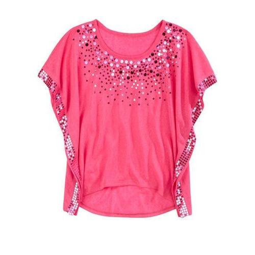 Ladies tops round neck designer ladies top, pink sbganla