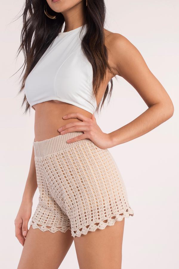 last chance cream crochet shorts last chance cream crochet shorts ... prtpimm