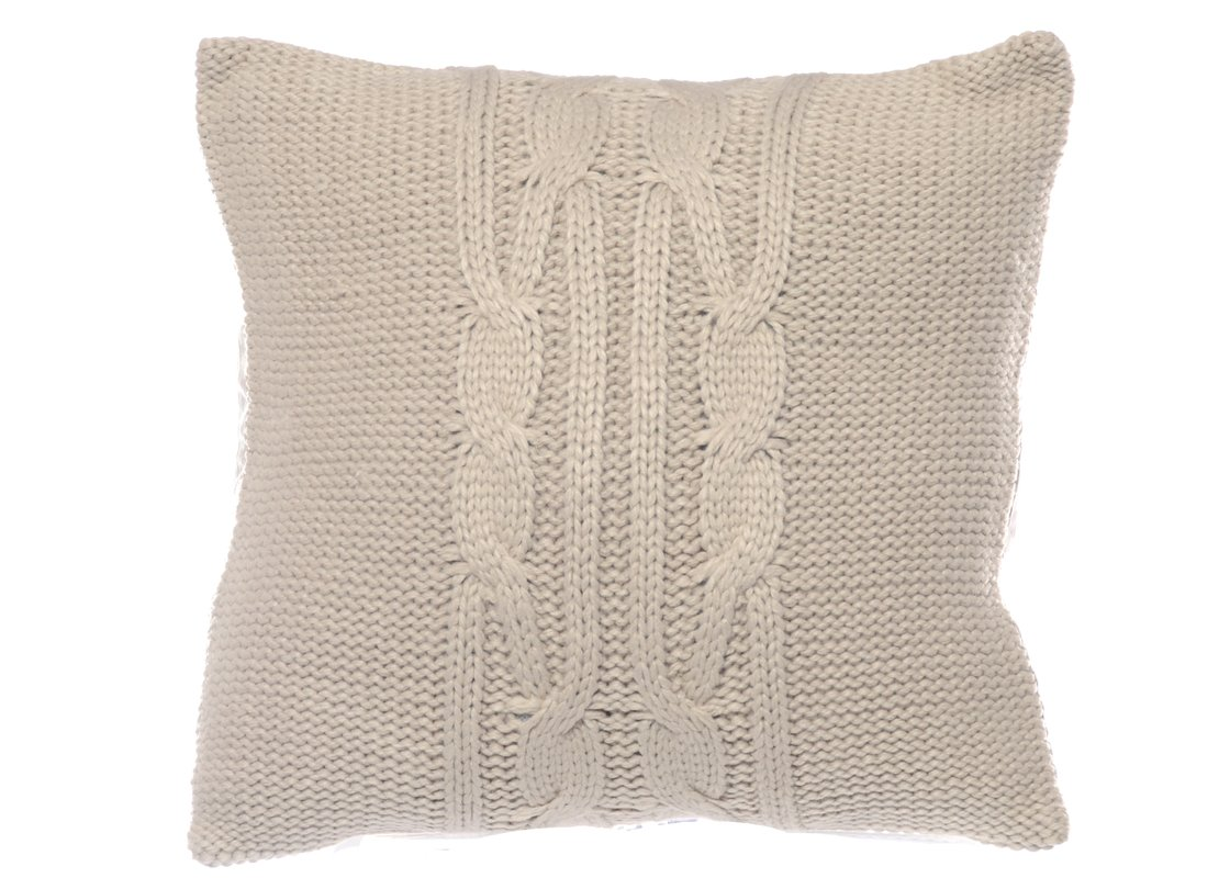 lawndale cable knit throw pillow yolbqrq