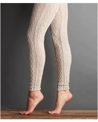 lemon legwear truffle tweedy cable-knit leggings ywkekqu