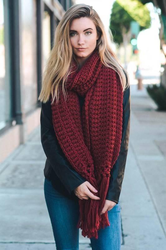 leto scarves chunky knit scarf ... tgjmviy