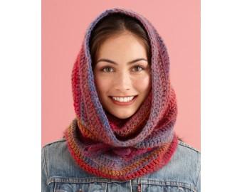 Lion Brand Yarn Patterns cozy cowl hood pattern (crochet) rcxhdwk