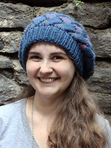 Lion Brand Yarn Patterns entrelac beret vvwsmdg