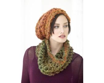 Lion Brand Yarn Patterns quick cushy hat and cowl set pattern (crochet) ksnnjrc
