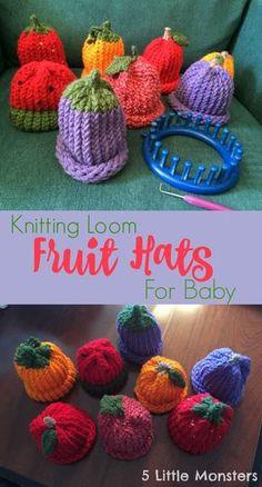 loom knitting 5 little monsters: fruit hats on a knitting loom sjelhht