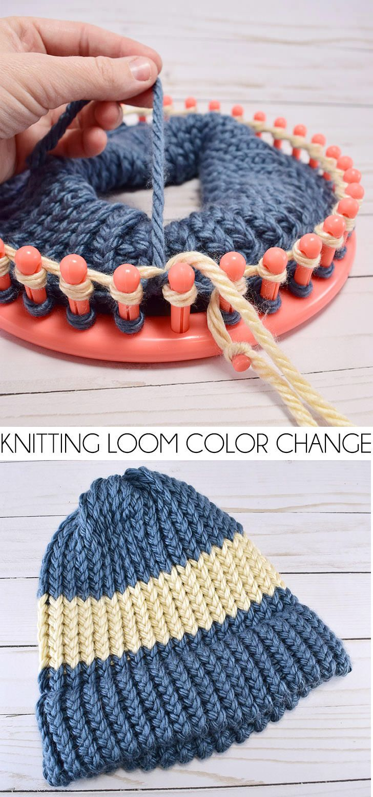 loom knitting patterns how to change colors on a knitting loom umhluhx iewmxon