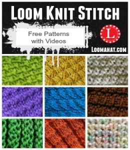 loom knitting patterns loom knit stitch stitches gmyztxh