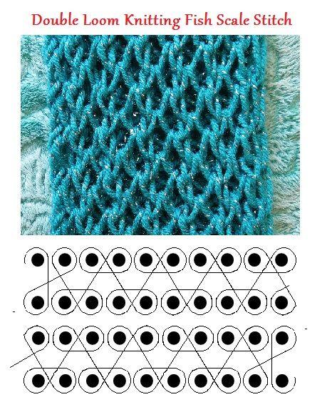 loom knitting patterns loom knitting double fish scale stitch. ktxamrg