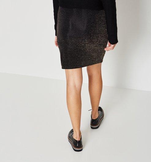 metallic knitted skirt - antique gold - women - skirts - promod sobjrcd