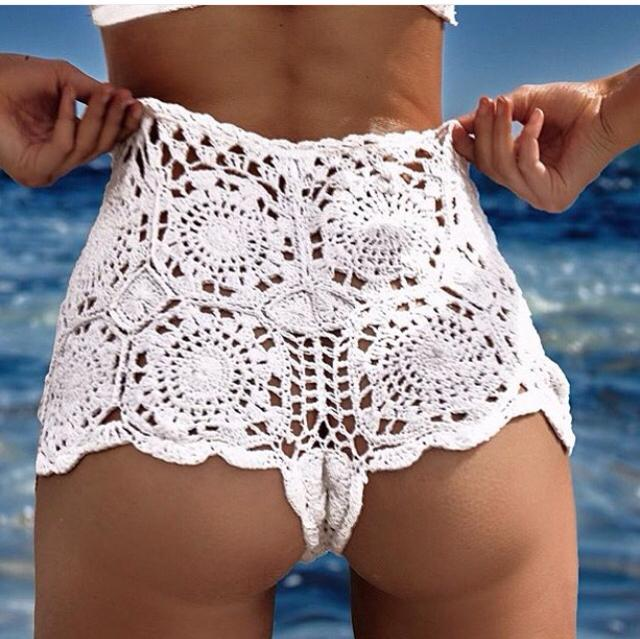 mimi cotton crochet shorts zxirmgc