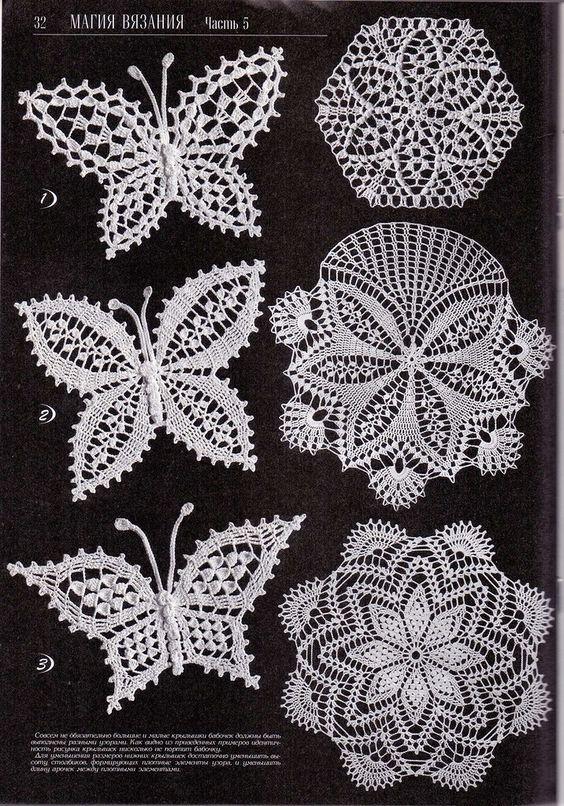 modele crochet ... crochet buterflies (26) ... ijcqqcw