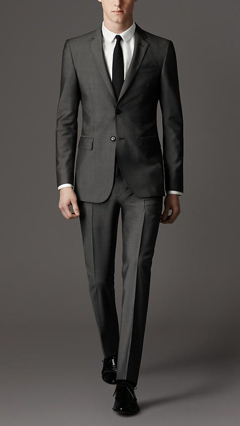 modern fit wool mohair suit   burberry qfoqcnx