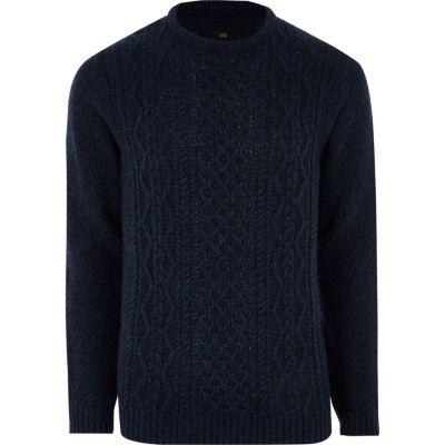 navy cable knit jumper ziytgwk