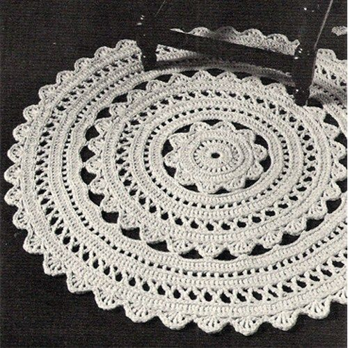 new free crochet rug patterns crocheted doily rug pdf pattern 36 in xgdjevd