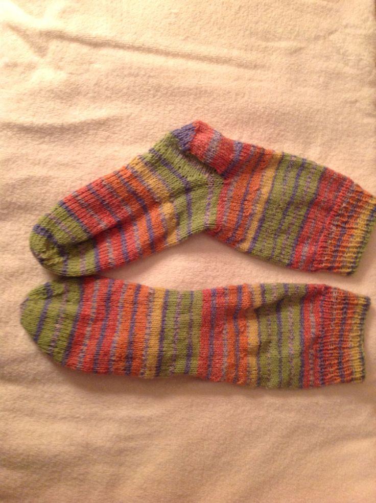 New Sock Yarn just finished my new socks. love this sock yarn...patons stretch sock husmilr