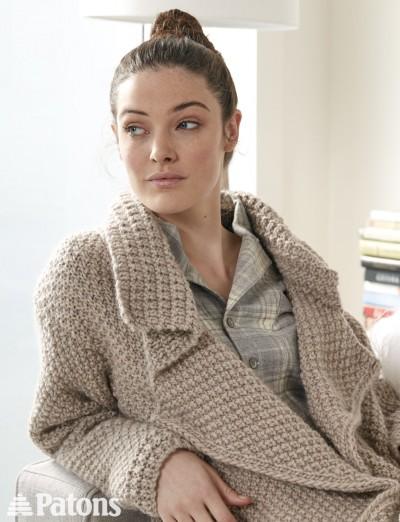 Patons Knitting Patterns lapel cardigan - free knitting pattern xdfzpnr