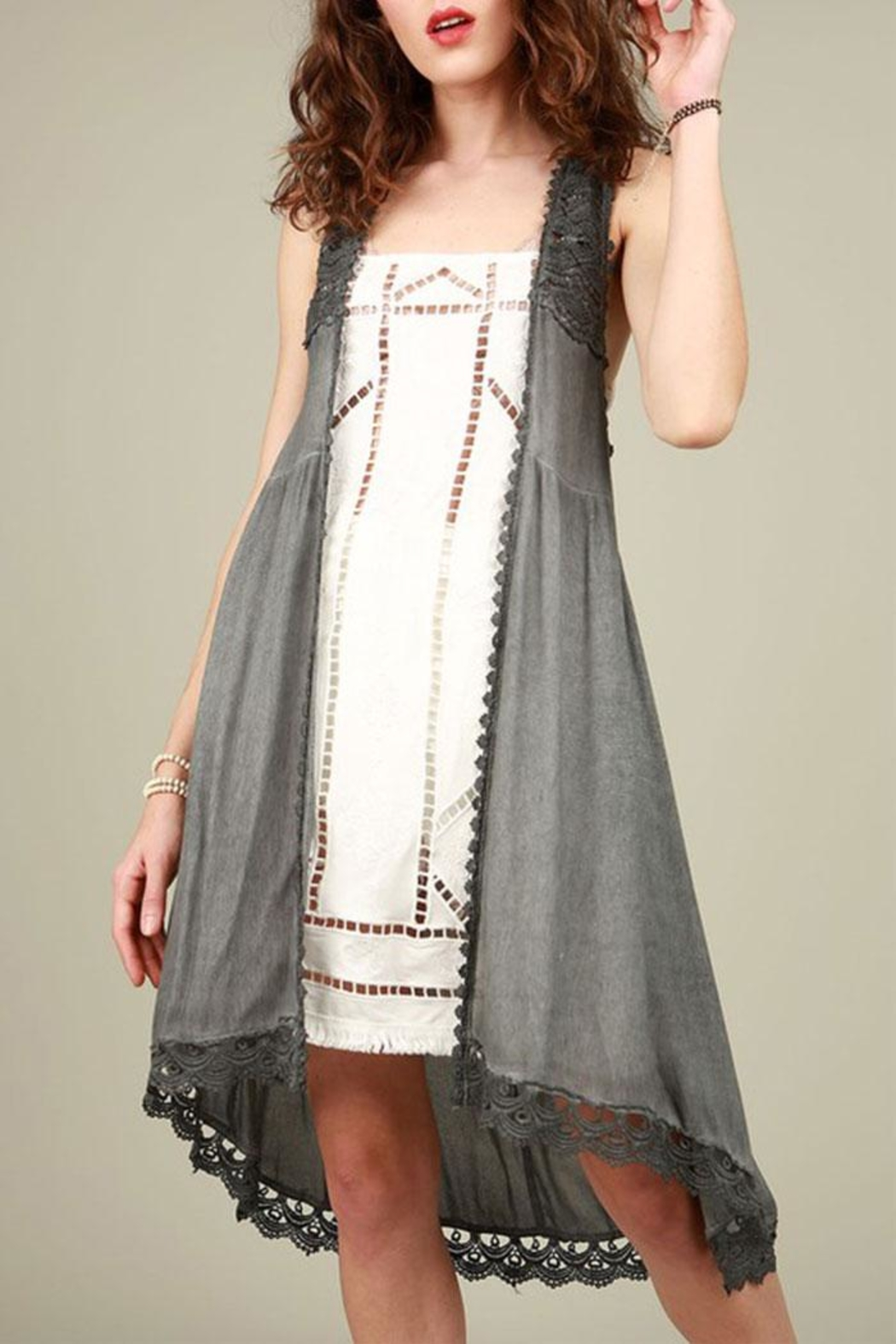 pol crochet tunic top - front cropped image uzbwtsb