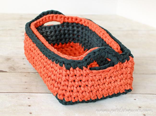 rectangular crochet basket pattern ... two nesting sizes! hkcytml