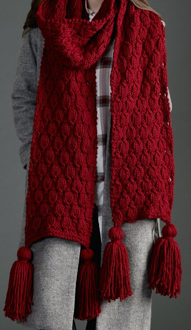 Various Patterns On Knitting A Scarf