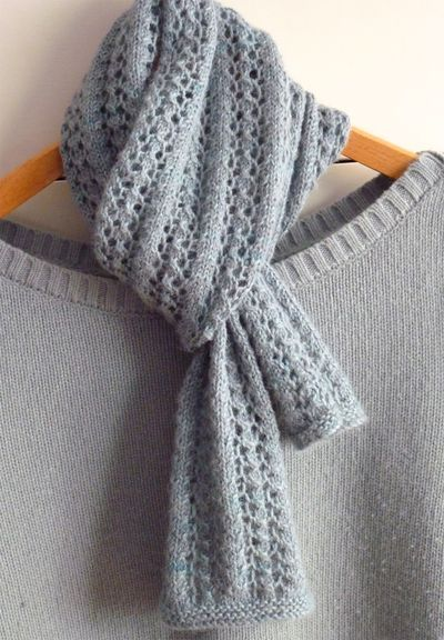 scarf knitting patterns little cotton rabbits knitting blog pattern is little leaf lace scarf by commupz