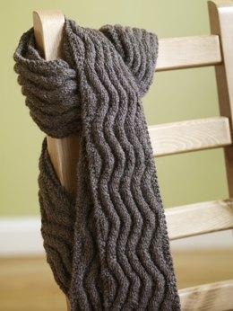 scarf knitting patterns meandering rib scarf in lion brand fishermenu0027s wool - 70809ad dfdvqwc