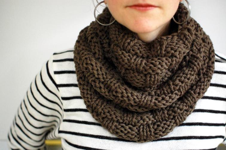 scarf patterns ... chunky basket weave infinity scarf pattern jpymqug