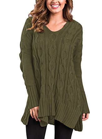 sidefeel women casual v neck loose fit knit sweater pullover top small amy pimdcrs