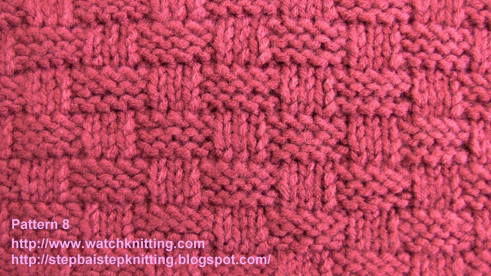 simple knitting patterns basket stitch-free knitting tutorials- watch knitting - pattern 8 - youtube tnhtknk