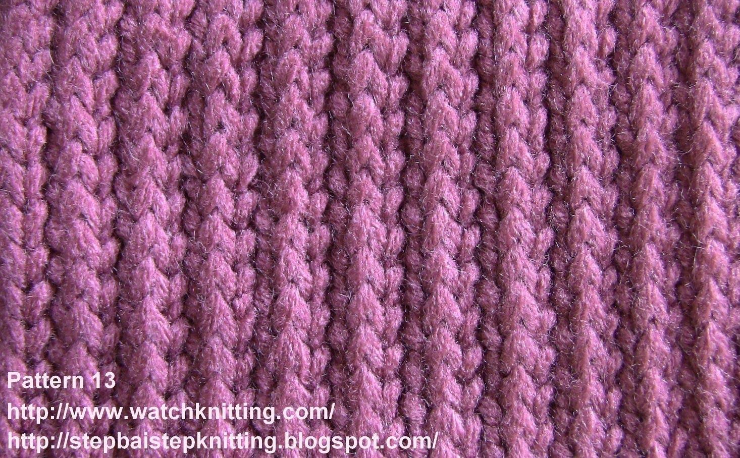 simple knitting patterns (stripe stitch) - free knitting tutorial - watch knitting - pattern 13 - isgbqnv