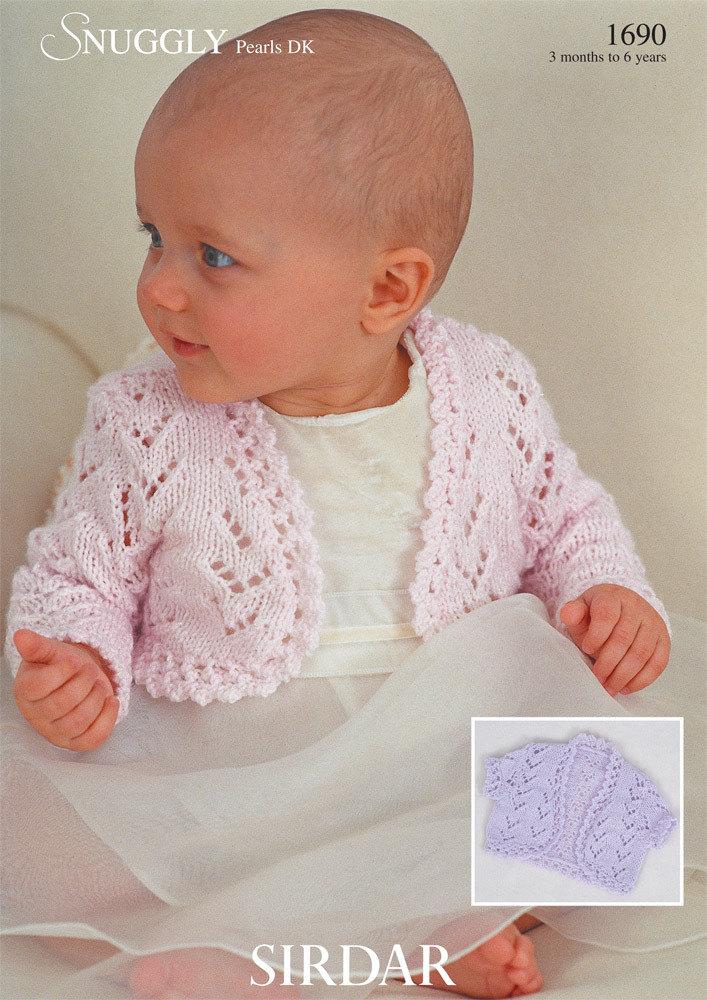 Sirdar Knitting Patterns boleros in sirdar snuggly pearls dk - 1690 - downloadable pdf njoorgp
