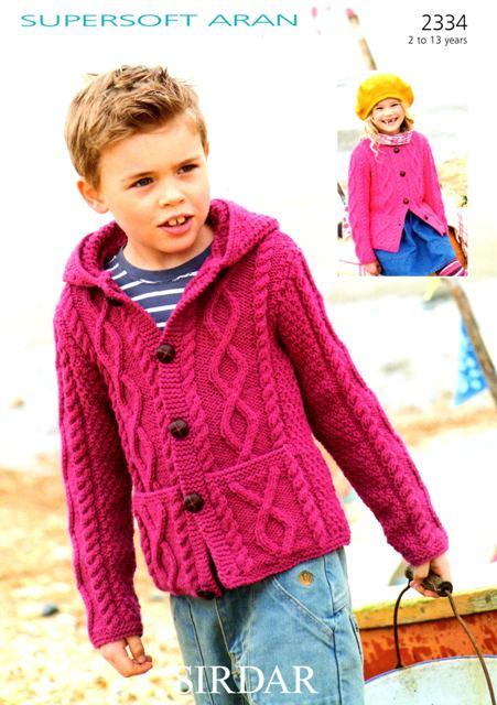 Sirdar Knitting Patterns knitting pattern - sirdar 2334 - supersoft aran - cardigans qujgufx