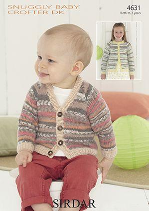 Sirdar Knitting Patterns sirdar snuggly baby crofter dk - 4631 cardigans knitting pattern ghflofn