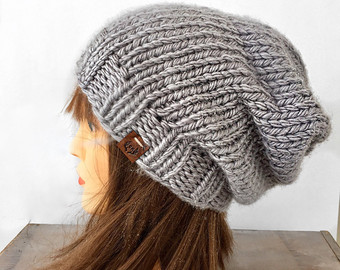 slouchy beanie / hand knitted beanie / knit beanie / winter knit hat bzogycq