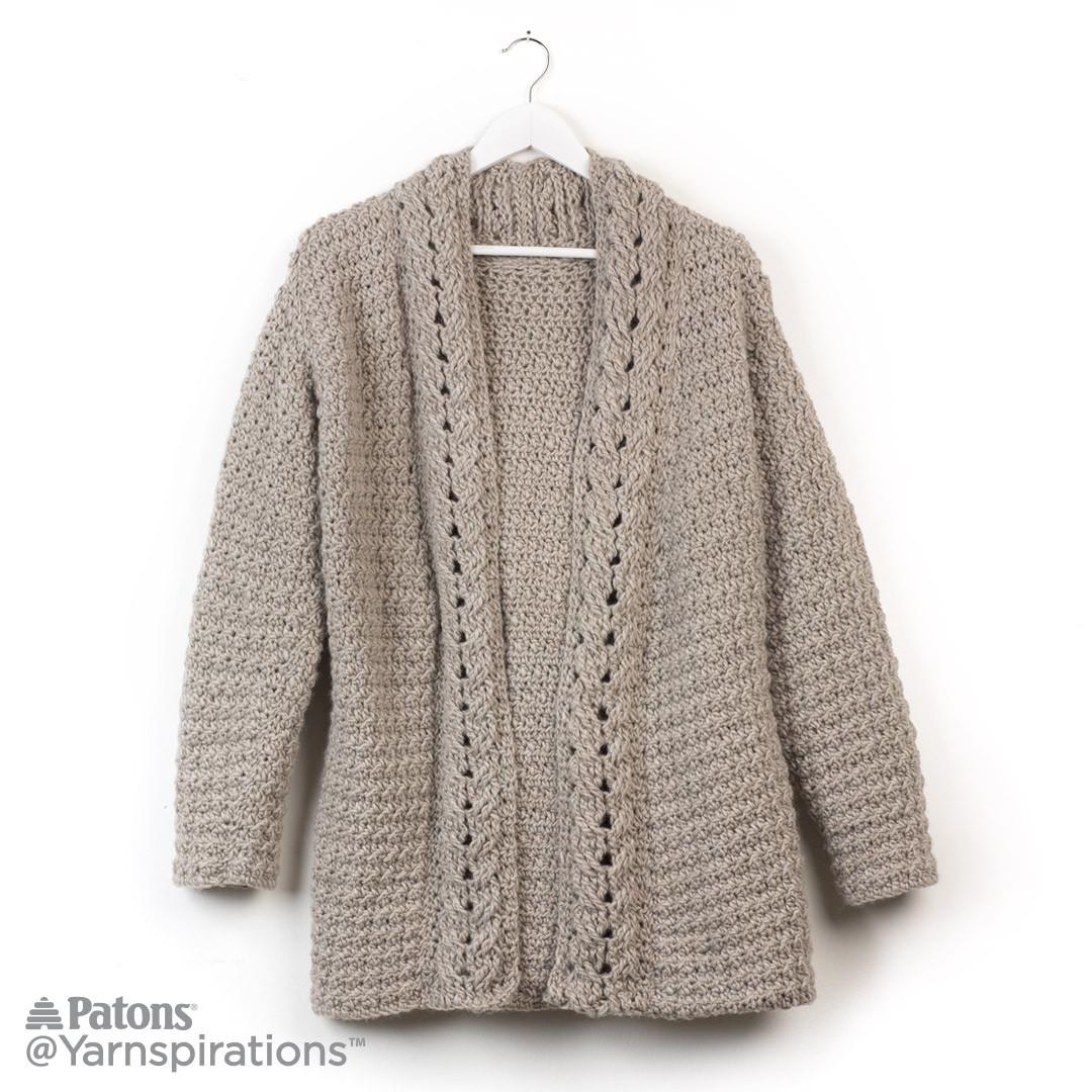 slouchy crochet cardigan squkebk