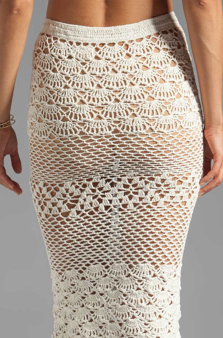 spell u0026 the gypsy collective coconut crochet skirt in off white . lrfubiw