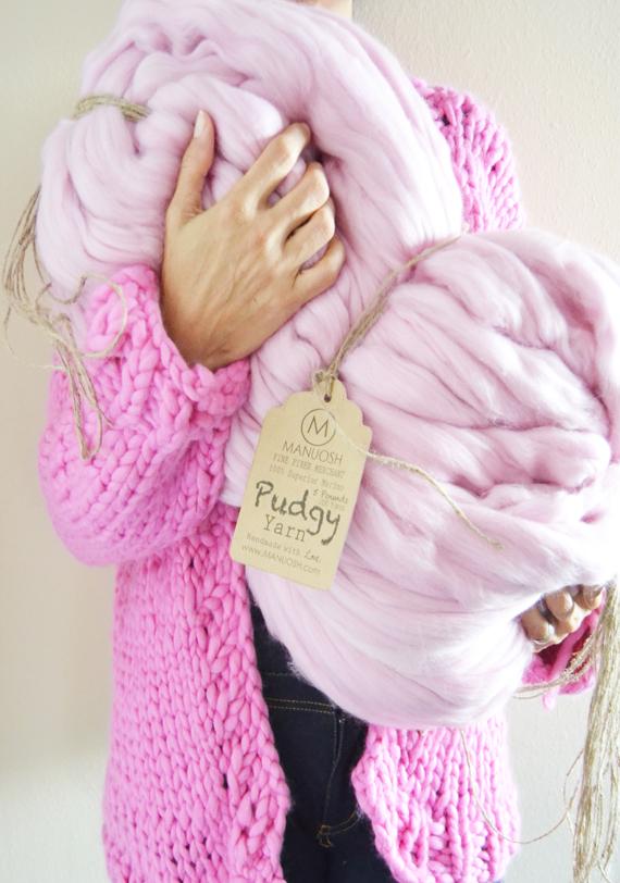 Super Bulky Yarn pudgy 5 pounds (200 yards) - super bulky merino wool yarn dnvbihu