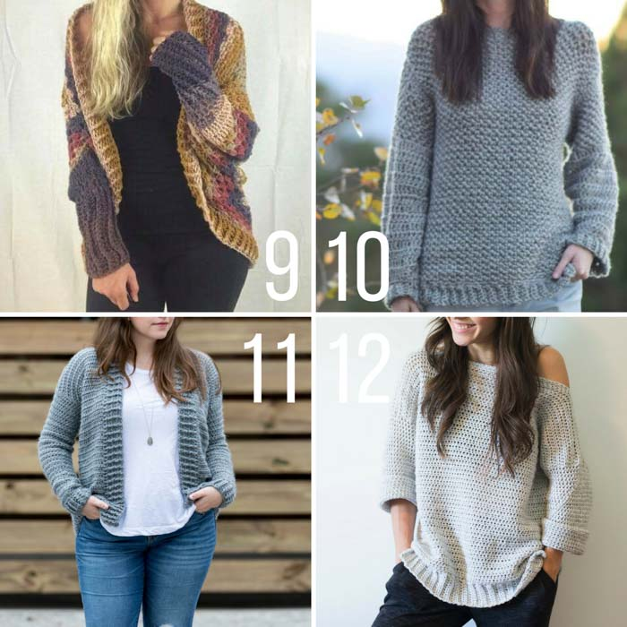 sweater patterns beginner and more experienced crocheters will all find something to love in ihlbyhr