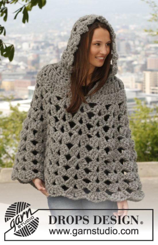 thick and neutral crochet poncho detmqxz