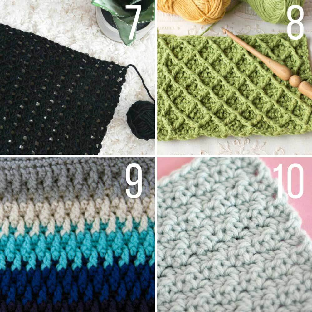 this collection of modern crochet stitches for blankets and afghans is sure hkyteew