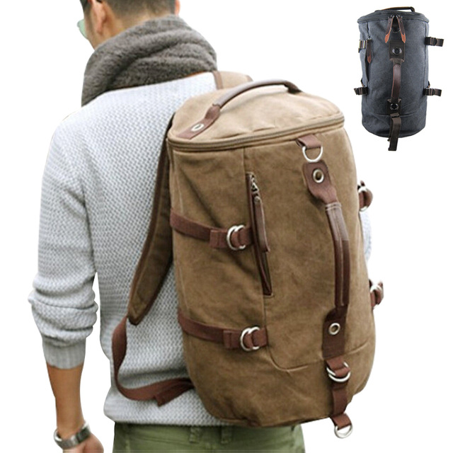 travel bags for men large capacity man travel bag mountaineering backpack men bags canvas  bucket shoulder gpajwng