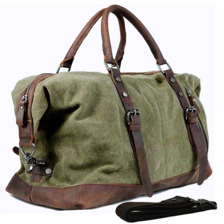 travel bags for men vintage military canvas leather men travel bags carry on luggage bags men qcptkjb