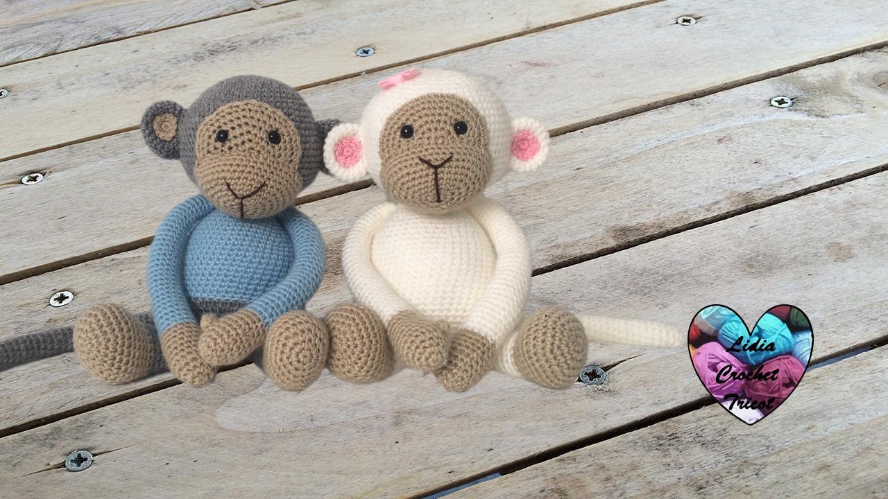 tricot crochet amigurumi monkeys. crochet tutorial. lidia crochet tricot ssfpprc
