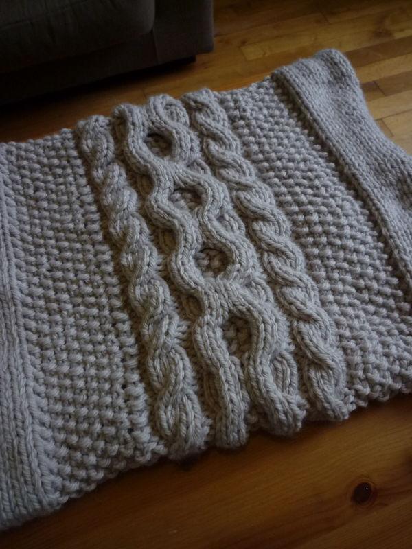 tricot crochet modèle gratuit : un snood au tricot djfywjh