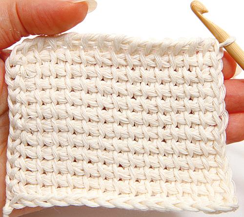 tunisian crochet - finishing, step 2 ejlaank