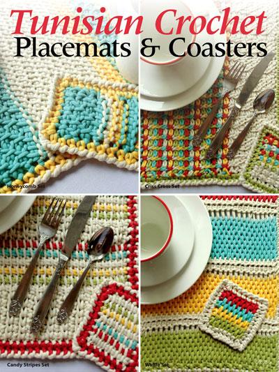 tunisian crochet patterns - tunisian crochet placemats u0026 coasters jpsmrgp
