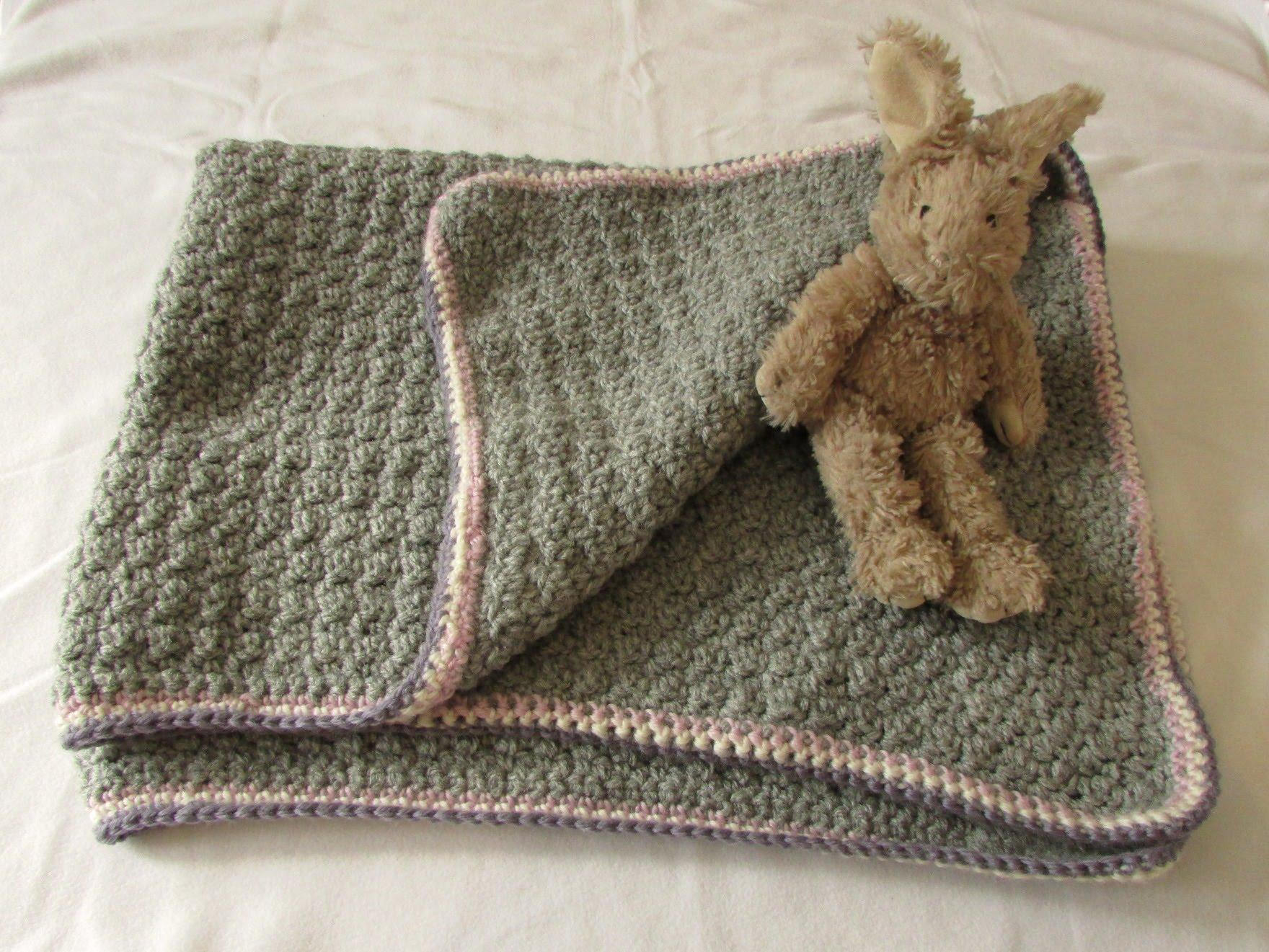 very easy crochet baby blanket for beginners - quick afghan / throw - noptyle