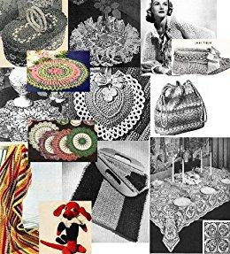 vintage crochet patterns amazon.com: vintage 1940u0027s crochet patterns - doilies, shrugs, afghans,  purses, 30 vintage mwtbdro
